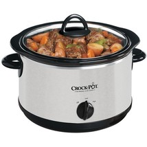 Crock-Pot 4-Quart Round Slow Cooker, Silver - $97.27