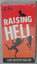 Raising Hell Adult Card Party Hilarious Interactive Board Game Hasbro  - $12.82