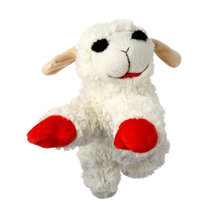 "MultiPet Lambchop Mini Plush Dog Toy 6"" with inner Squeaker * - $6.79"