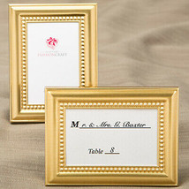 Shiny Gold Picture Place Card Frames Beaded Inner border Set of 24 Party... - $44.55