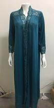 OLGA 80s Vtg Robe Peignoir Wrap Nylon Emerald Lace #9702 M - ₨1,817.89 INR