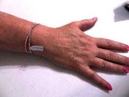 "Charter Club 6.5 "" Criss Cross  Rose Gold Simulated  Diamond Cuff Bracel... - $11.52"