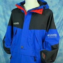 Columbia Titanium Jacket Mens L OmniTech Waterproof Hooded Sailing Snowboarding - $69.95