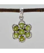 jaipur 925 Sterling Silver delicate genuine Green Pendant UK gift - $22.78