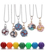 Aromatherapy Necklace Mexico Chime Music Angel Ball Caller Locket Neckla... - $12.77