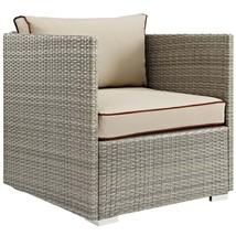 Repose Outdoor Patio Armchair Light Gray Beige EEI-2960-LGR-BEI - $330.25