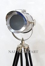 NauticalMart Nautical Designer Search Light Spotlight Wooden Tripod Floo... - $127.71