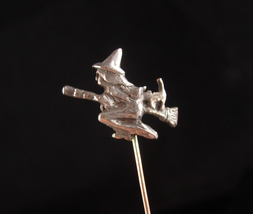 Victorian WITCH stickpin - Vintage rose gold plate pin - haunted spooky ... - $165.00