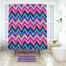 Flower Lilly Hearts Flutter Shower Curtain Waterproof & Bath Mat For Bathroom - $15.30+