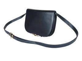 CARTIER Sapphire Leather Black Shoulder Bag CS0057 - $400.00