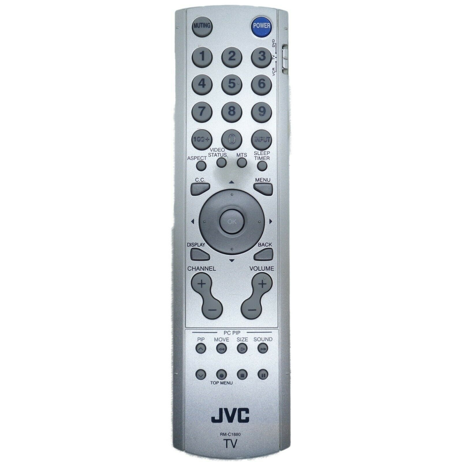 JVC RM-C1880 Factory Original TV Remote LT-17X576, LT-23X576, See Notes & Photos - $9.76