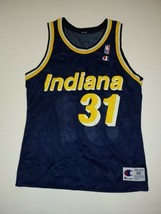 Vtg NBA Reggie Miller Indiana Pacers Basketball Jersey Small Size 40 - $49.99