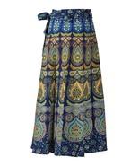 Traditional Classic Mandala Free Size Women Wrap Skirt Long Cotton Skirt - $16.35