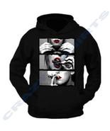 Hot Girl Rolling Blunt Red Lips Sweatshirt Sexy Hoodie 420 Smoking Weed ... - $27.95