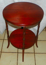 Solid Mahogany Round End Table / Side Table - $299.00