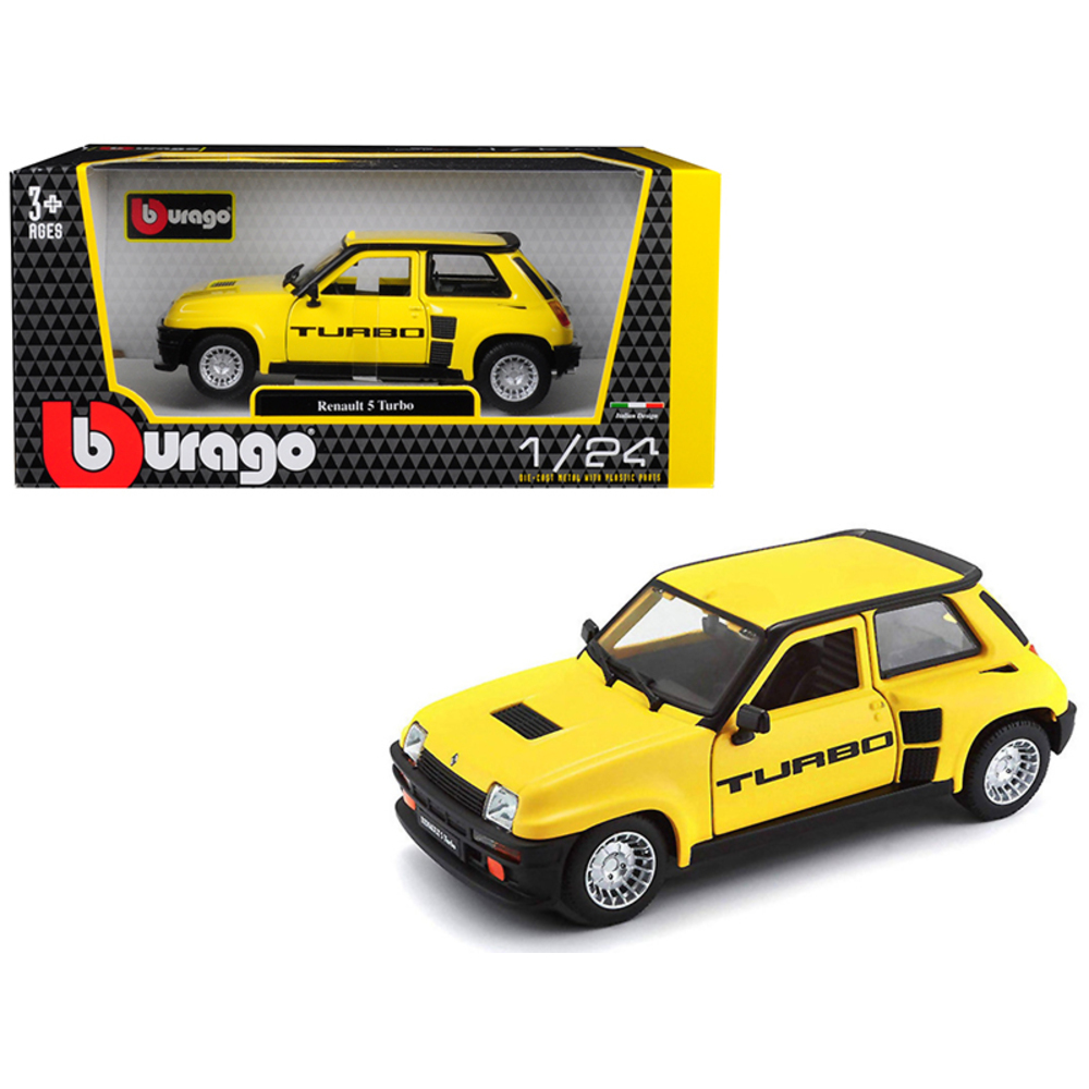 Renault 5 Turbo: Renault 5 Turbo Yellow With Black Accents 1/24 Diecast