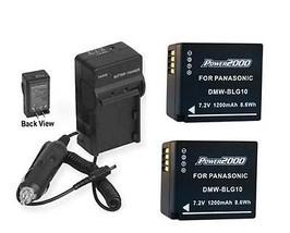2 Batteries + Charger For Panasonic DMC-GX85 DMC-GX85KK DMC-GX85KS DMC-GX85KBODY - $35.87