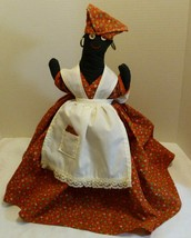 Hand Made Folk Art Fabric 16 Inches Doll Ethnic African American Caribbean - $59.98