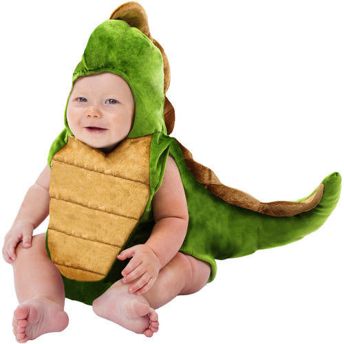 NEW NWT Boys Baby Dinosaur Plush Bubble Costume 0-9 Months Halloween