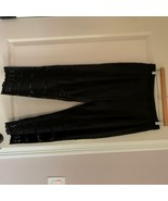 EUC ZIMMERMANN Cotton Silk Blend Black Broidery Pants SZ 2 (M) - $148.50