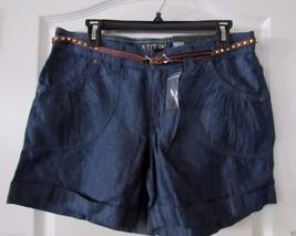 Apt. 9® Modern Fit Cuffed Chambray Shorts w/belt - Women's Sz 10 NWT MWR... - $23.48