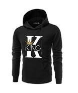 Couple Sweater Matching Set of  KING QUEEN Crown Hoodie Pärchen Pullover - $26.60