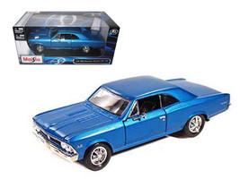 1966 Chevrolet Chevelle SS 396 Blue 1/24 Diecast Model Car by Maisto - $30.95