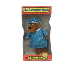 Vintage 1982 Fisher Price The Berenstain Bears Mama Plush Bear Stuffed A... - $32.68