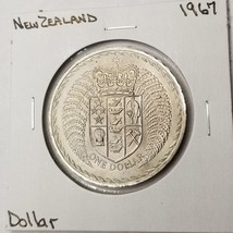1967 New Zealand 1 Dollar World Coin - Decimalization Commemorative - $6.25