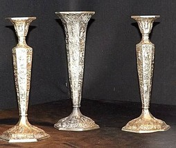 Candlesticks and Dutch Plate Trumpet Vase No. 53 Vil  Antique Ornate  - $189.95