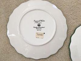 3 Raymond Waites Cornucopia Certified Intl Green Rim Fruit Dinner Dish Plates image 5