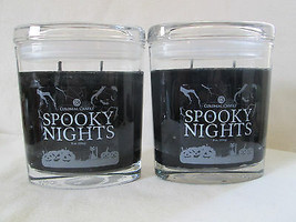2 Colonial Candle~SPOOKY NIGHTS~ 8 oz Oval Jar Candles, BLACK - $30.00