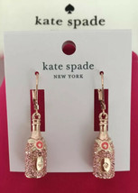 KATE SPADE NWT MAKE MAGIC CHAMPAGNE DROP EARRINGS PINK BUBBLY ROSE HUED ... - $43.00