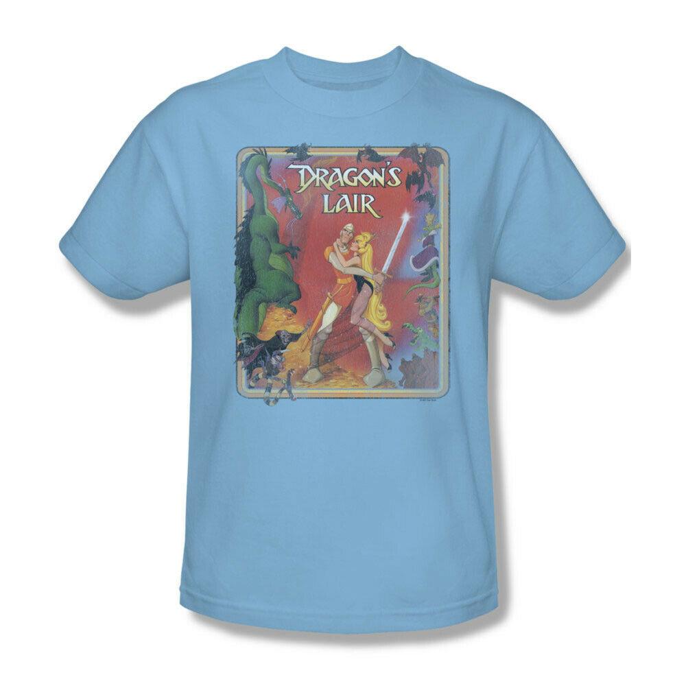 Dragons Lair t-shirt Dirk & Princess Daphne 80's retro arcade graphic tee DRL106