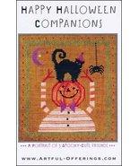 Happy Halloween Companions cross stitch chart Artful Offerings  - $9.00
