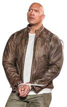 Rampage Movie Jacket Davis Okoye Distressed Brown Dwayne Johnson Leather Jacket image 4