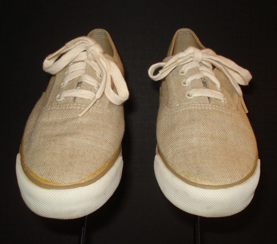Cole Haan Sporting Beige Hopsack Weave Casual Cool Boat Shoe Sneaker Sz. 7.5M