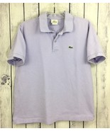 Lacoste Mens Shirt Size 8 Short Sleeve Lilac Purple Rugby Polo Style 2 A... - $19.99