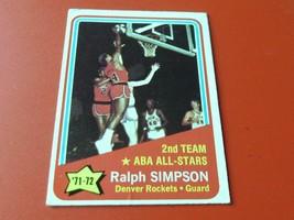 1972 TOPPS   RALPH SIMPSON   A.S.  # 257    NEAR  MINT    DENVER  BASKET... - $44.99