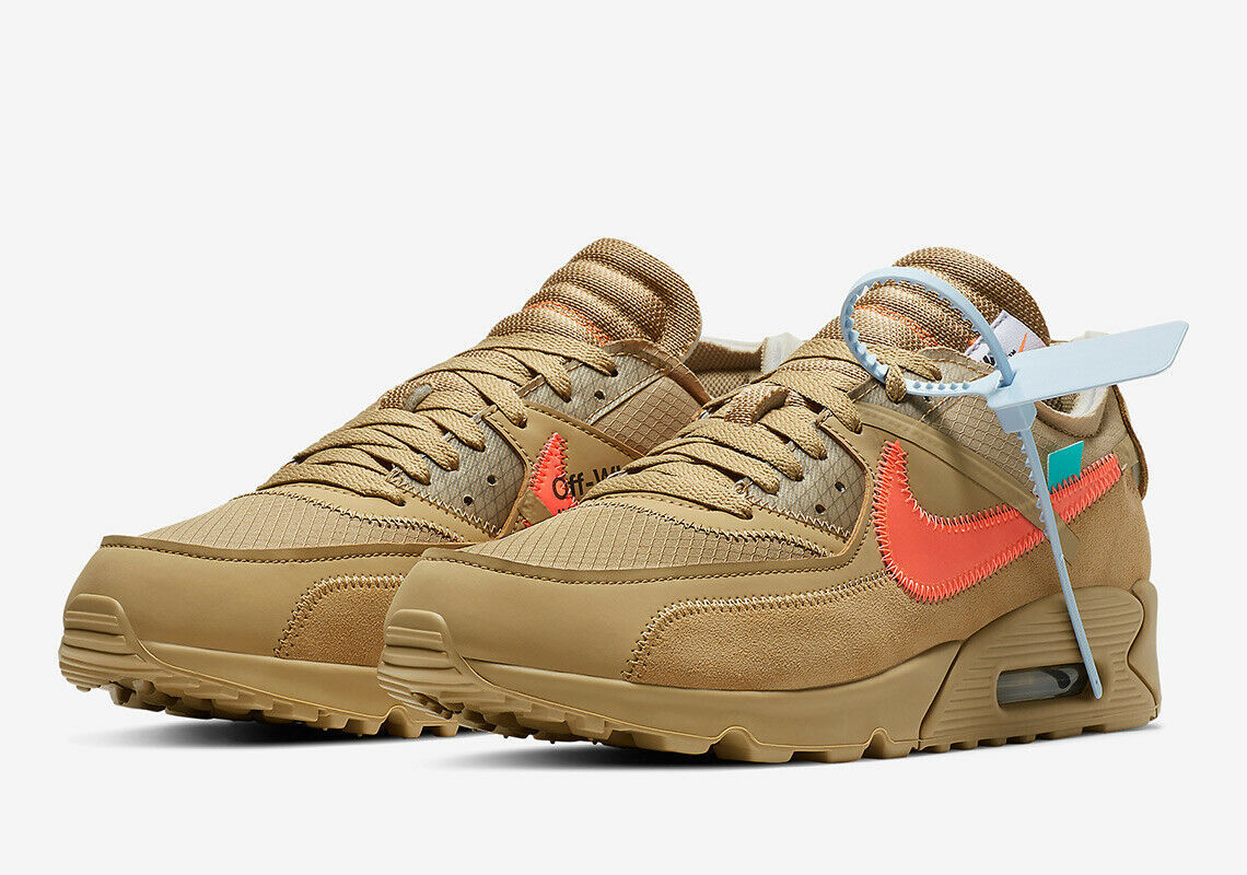 buy popular d96e5 53488 NIKE OFFWHITE AIR MAX 90  DESERT ORE  THE TEN VIRGIL ABLOH -  377.70