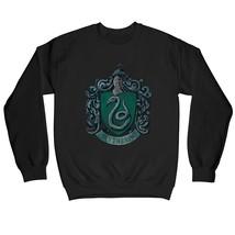 Harry Potter Distressed Slytherin Crest Children's Unisex Black Sweatshirt - $25.07