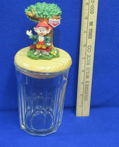 Clear Glass Canister Jar w/ Keebler Elf & Tree ... - $13.09