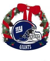 NFL New York Giants 20in Helmet Door Wreath Holiday Christmas Decor Licensed NEW - $34.05
