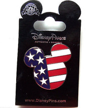 Disney Patriotic Flag Face Mickey Mouse Trading Pin Theme Parks New - $19.95
