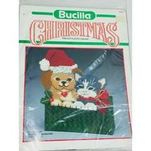 Bucilla Christmas Craft Cat Dog Door Stop New Sealed Yarn Needle Craft 61072 - $22.00