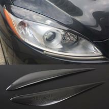 Carbon Fiber Car Headlight Cover Eyebrows Eyelid Trim Decals For Mazda 5... - $69.29