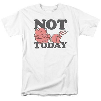 """Hot Stuff Little Devil t-shirt """"Not Today"""" retro comic book graphic tee DRM345"""