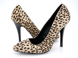 Steve Madden Womens 8M Beige Intrud L Leather Animal Print High Heel Pum... - $32.99