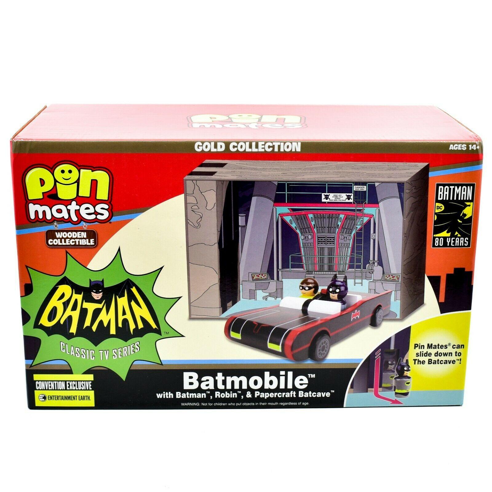 Pin Mates Batman Classic TV Series Batmobile Robin & Batcave Entertainment Earth
