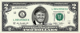 DONALD TRUMP on $2 Bill REAL Money Cash Dollar Collectible Memorabilia - $9.99